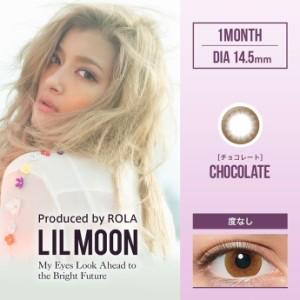 【度なし】ローラ LILMOON Monthly チョコレート   1箱2枚入り6箱セットカラコン1month PIA