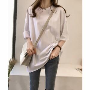 ビッグTシャツ ゆるTシャツ Tシャツ 大きい ゆるい ビックサイズ シンプル 半袖 11tt5782【10-14日発送予定(土日祝除く)】