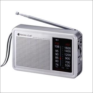AM FMデスクラジオ 6480 シルバー デスクタイプ ラジオ 防災用品