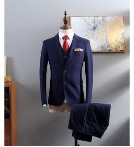 e0bdf6ce5ede4 メンズ スーツ+パンツ+ベスト ビジネスドレス 上下セット 礼服