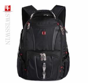 SWISSWIN リュック SW8114 機能満載 リュックサック バックパック 大容量 軽量 多機能 シンプル 登山 旅行 男女兼用 レディース メンズ