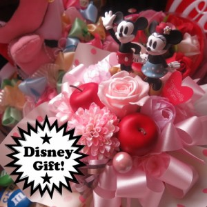 母の日 プレゼント ディズニー 花 フラワーギフト ラテ プリザーブドフラワー ノーマル ミッキーマウス ミニーマウス ケース付き