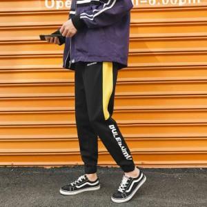 お洒落なストライプ柄 スリムパンツ メンズボトムス スリムズボン かっこいい カジュアルパンツ ファッション感アップ