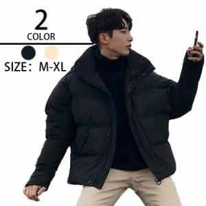 韓国風 ゆったりタイプ メンズファッション パーカー ダウンコート コーディネート アウター  中綿ダウン ゆたりタイプ