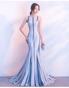 エレガント イブニングドレス ロングドレス マーメイドライン ワンピース 司会者 パーティ 年会 二次会 演奏会 お呼ばれ