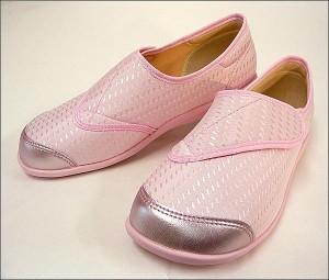 快歩主義 L131RS ピンク 婦人カジュアルシューズ