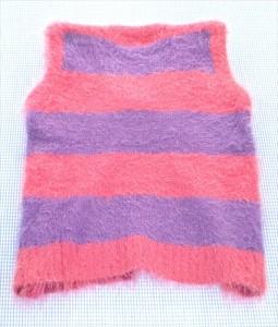 グラグラ GRAND GROUND ベスト 130cm ピンク/紫系 美品 女の子 キッズ