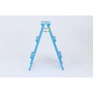 アルミ踏み台 3段 ブルー DAT-AN3(3個セット)