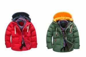 2点送料無料ダウンコート冬キッズダウンジャケット キッズ男の子 ダウンーパーカ女の子キルティングダウン ジュニア子供服フード付き