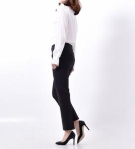 ◆美シルエットスラックスパンツ全2色 レディース 黒スラックス セミフォーマル リラックスパンツ【メール便発送】JennyandFlat