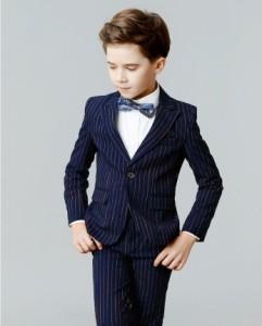 0e981f0cb4e27 子供スーツ 男の子 2点セット タキシード リングボイ結婚式 発表会 ピアノ 演奏会 入園