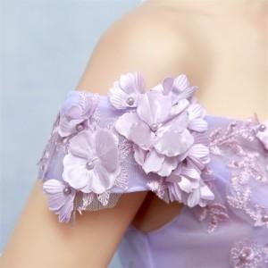 カラードレス 超人気 ロングドレス パーティードレス エレガント ウェディングドレス チュールスカート  演奏会 撮影 発表会 編み上げ
