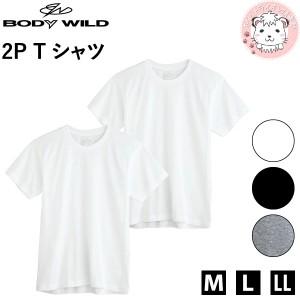 グンゼ ボディワイルド クルーネックTシャツ 2枚組 M L LL