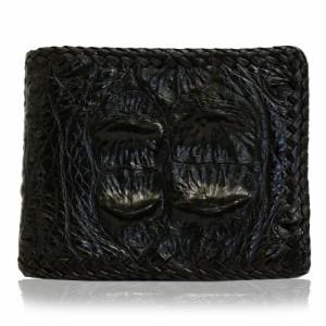 f2979aeb37f8 【クーポン対象店】 送料無料 二つ折り財布 財布 リアル レザー 本革 ブラック