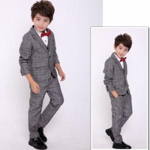 子供スーツ 3点セット ジャケット&シャツ&ズボン  子供スーツ こどもスーツ 子供服フォーマルスーツ 男の子スーツ 七五三