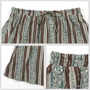 [LL.3L.4L]スカート エスニック ストライプ ロングスカート 大きいサイズ レディース Re-J(リジェイ)