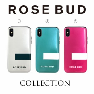 iPhoneXS iPhoneX 兼用 ケース ブランド ROSEBUD ローズバッド 背面シェルケース IC カード収納 改札エラー防止