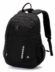 SWISSWIN SW1506 リュック バックパック 大容量 防水 レディース メンズ バッグ 登山 通学 旅行 軽量 ノートPC収納 ビジネス