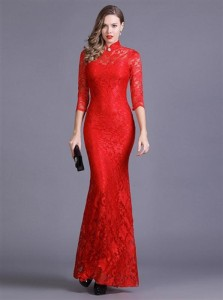 5315a2d9a8c16 優美で豪華な総レースデザインストレッチフレアーロングドレス キャバドレス キャバワンピ フォーマル 全4色(黒白赤緑)