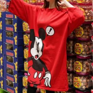 ミッキーtシャツ レディース ディズニー ミッキーマウス プリントT カットソー ラグラン7分袖 春先 大きいサイズ ルームウェア ts0045