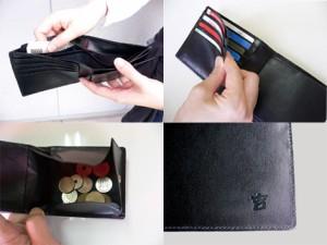 75ccc7f891f1 【財布】二つ折り財布◇小銭入れ 本革二つ折り財布 かくれろ諭吉