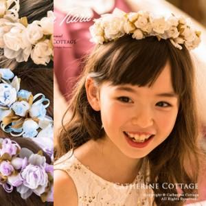 子供服 子供 ドレス 花かんむり キッズ フラワーティアラ  ピアノ 発表会 結婚式 ヘアアクセサリー 女の子 Z0047