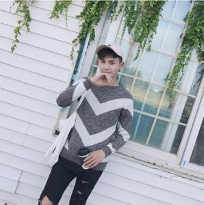 プルオーバー セーター  メンズ ナチュラル メンズ  長袖 セーター ニット メンズファッション コーディネート カジュアル カッコいい
