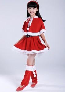 d931e47a0a559 サンタ コスプレ サンタ衣装 ワンピース ポンチョ ネコ耳 子供 キッズ クリスマス パーティー 39