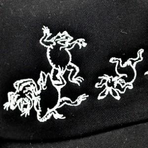 和柄キャップ 帽子 メンズレディース 絡繰魂鳥獣戯画刺繍 おしゃれカジュアル フリーサイズ 274876
