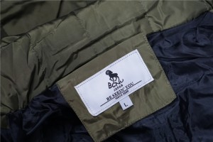BCNU メンズコート 中綿ジャケット スリムファー付き