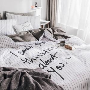 布団カバー セット 3点セット シングル 布団 シーツ 海外直輸入 モノトーン 白黒 お得用 Sサイズ bedding-0521