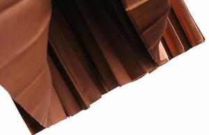 ベロア プリーツスカート ロング ベルベット メタル 秋冬 かわいい 大人
