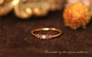 レディース リング 真珠 指輪 タンスイ パール ルビー リング K10PG / k10pg diamond ring