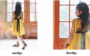 【子供服 ワンピース】おしゃれワンピース リゾート/フォーマルワンピース 女の子 ワンピース リボンワンピース イエロー