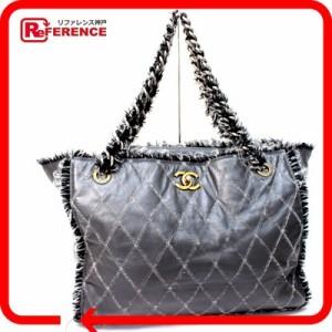 62508d935702 あす着 CHANEL シャネル カーフスキン×ツイード キルティング チェーントートバッグ ショルダーバッグ カバン 鞄