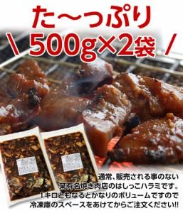訳あり 焼肉 ハラミ 某有焼肉屋さんの『はしっこハラミ』 どっさり1キロ(約500g×2袋) 冷凍 送料無料