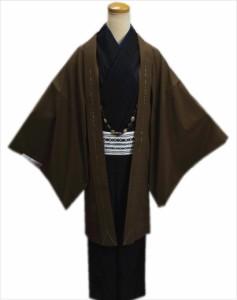 粋なメンズ男物男性羽織単品濃茶色M・L・LL 和装着物コート冬の必需品