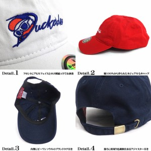 DUCK DUDE キャップ ロゴ刺繍 ダックデュード 帽子 アヒル刺繍 ビーワンソウル メンズ レディース CAP-052