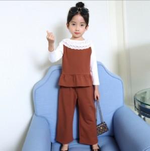 9382dab5ca7b2  予約商品 新商品 フォーマル3点セット 女の子 ブラウス・ズボン・ベスト 3点セット フォーマル カジュアル シンプル 子供服の通販はWowma!