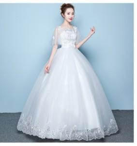 9a4f59756025f ボートネック ロングドレス 2点セット パニエ付き プリンセス パーディードレス 結婚式 ブライダル 披露宴