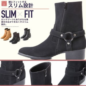 ブーツ メンズ 靴 ミドルブーツ trend_d roshell JIGGYS / リングブーツ