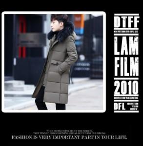 メンズファッション 中綿ダウンコート  防寒中綿ジャケット ファー フード付き ブルゾン ロングコート 冬物 通学
