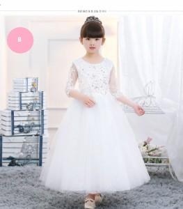 4eff0e5acb666 子供ドレス 結婚式リングガールドレス 女の子ウエディングドレス キッズ披露宴ピアノ発表会バースディ演奏