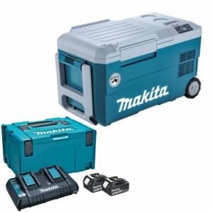 マキタ CW001GZ+A-61226 充電式冷温庫+パワーソースキット1 青 18V/40V/100V/シガーソケット【バッテリー/充電器セット】