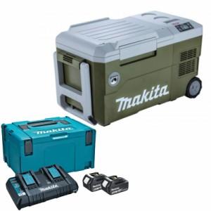 マキタ CW001GZO+A-61226 充電式冷温庫+パワーソースキット1 オリーブ 18V/40V/100V/シガーソケット【バッテリー/充電器セット】