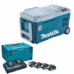 マキタ CW001GZ+A-67094 充電式冷温庫+パワーソースキット2 青 18V/40V/100V/シガーソケット【バッテリー/充電器セット】
