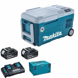 マキタ CW001GZ+A-68317 充電式冷温庫+パワーソースキットSH1 青 18V/40V/100V/シガーソケット【バッテリー/充電器セット】