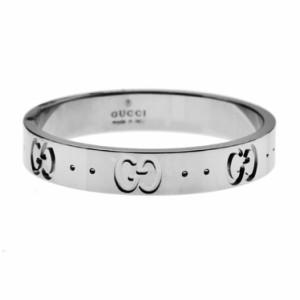 reputable site e58b8 fab0f グッチ GUCCI アイコン リング ホワイトゴールド 073230 09850 9000 K18WG 指輪 icon ユニセックス ウエディング  結婚指輪 新品