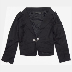 韓国 子供服 ラブフォーエタニティ LOVE FOR ETERNITY ビジューボタン付き ジャケット 単品 スーツ 女の子 150cm ブラック 3033 フォーマ