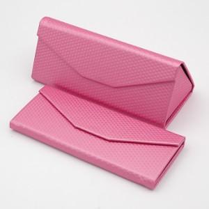 キューブ柄ピンク